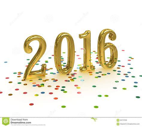 new year 2016 white background gold year 2016 on white background stock illustration