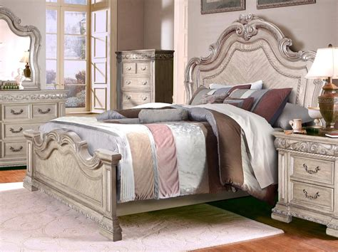 antique style bedroom sets valentine antique style 4 pc king bedroom set in antique