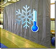 insulated industrial curtains industrial curtains akon curtain and dividers