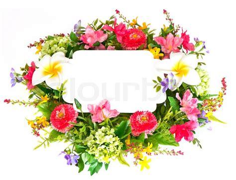 template for flower arrangement card decorative colorful flower arrangement on white background