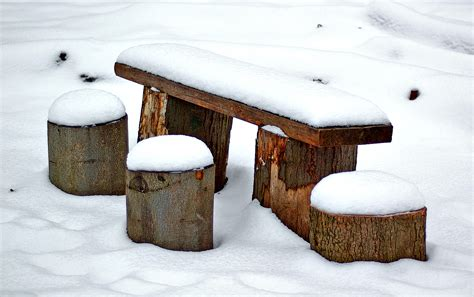 Covered Bench File Snow Covered Park Bench Aka Jpg