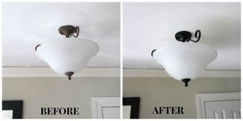 sew many ways painting light fixtures before and after