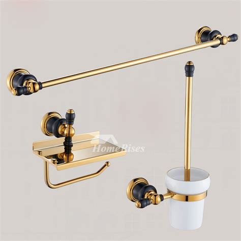 Luxury Black And Gold Bathroom Accessories Polished Brass Polished Brass Bathroom Accessories