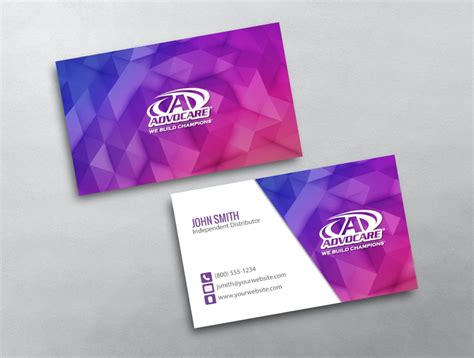 Free Advocare Business Card Template by Advocare Business Card 21