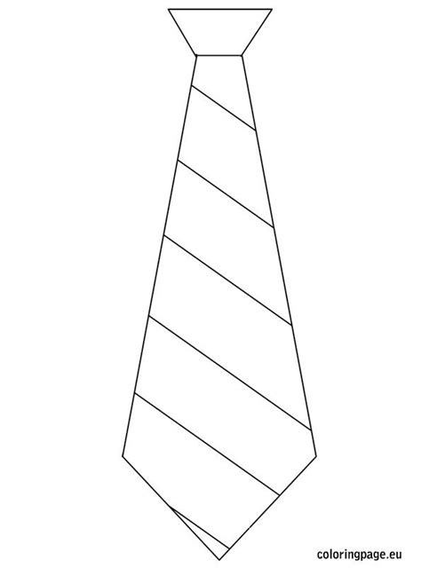 Father S Day Template Tie Father S Day Pinterest Tie Coloring Page