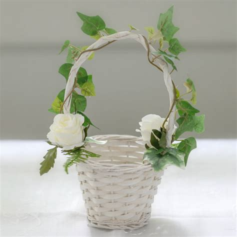 Flower Wedding Baskets by Pretty Flowergirl Baskets As Wedding Themes House Design
