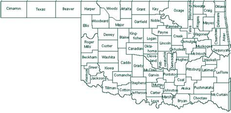 oklahoma counties map local service centers nrcs oklahoma