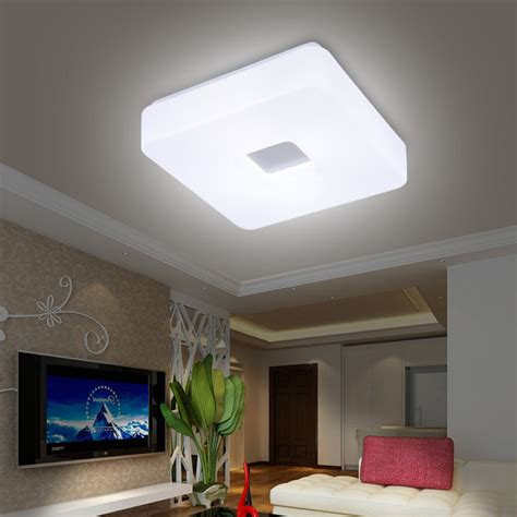 light for room free shipping modern led flush mount surface mounted square shape led ceiling light for living