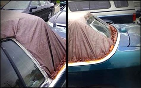 car upholstery repair tape photo trash bag convertible top