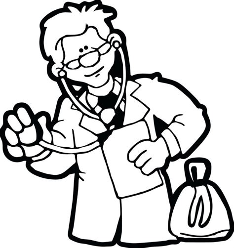 Doctor Coloring Pages Free Printable