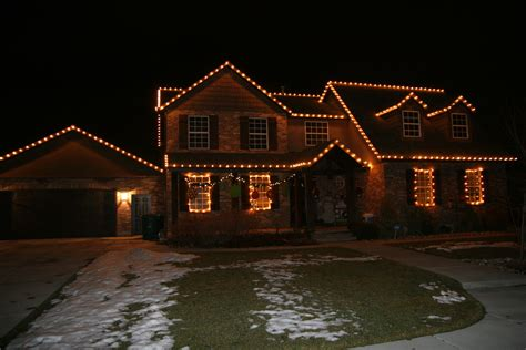 christmas lights on a home ace s spray