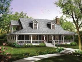 Home Plans With Porch by House Plans With Wrap Around Porches Style House Plans