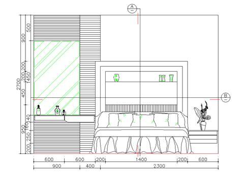 bedroom elevation cad dwg cadblocksfree cad blocks