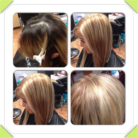 dark color on the bottom followed by a partial highlight