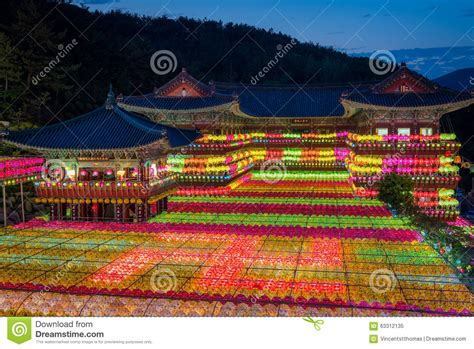South Korean Culture Essay by Buddha S Birthday At Samgwangsa Stock Photo Image 63312135