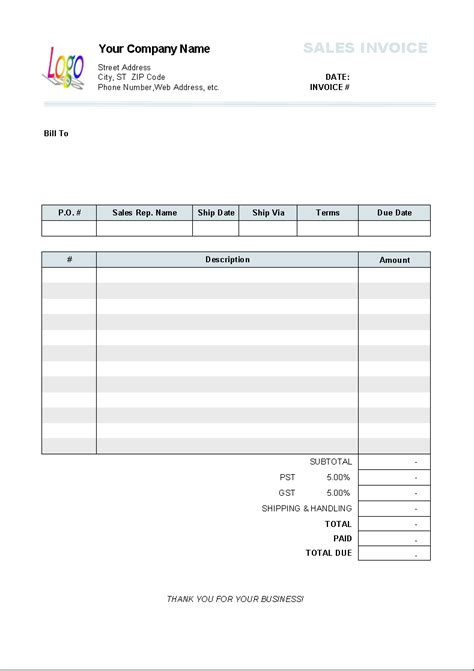 invoice format free invoice templates