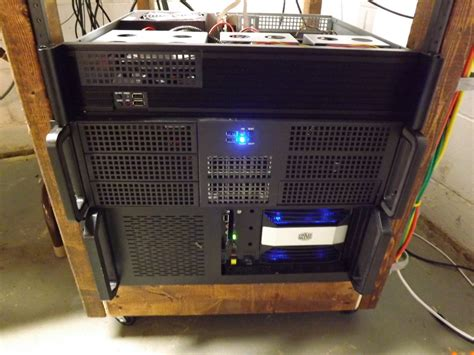 diy build your own 19 quot server rack cheap and easy home