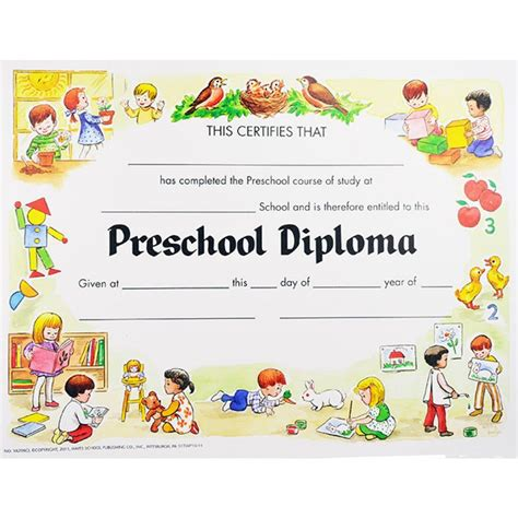 kindergarten certificate templates preschool graduation certificates unique preschool