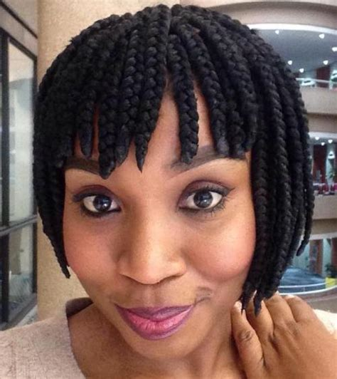 Braided Hairstyles With Bangs | 20 ideas for bob braids in ultra chic hairstyles