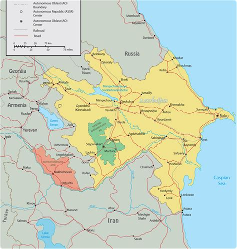 political map of azerbaijan nations online project azerbaijan political map