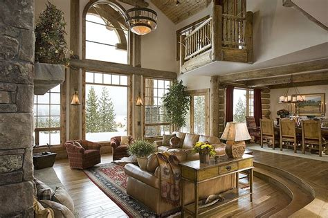 images  rustic great rooms  pinterest