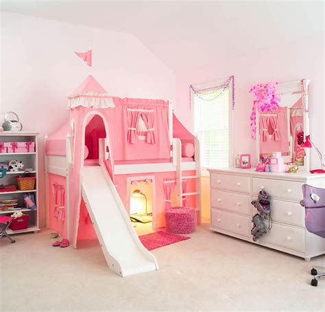 kids loft bed with slide maxtrix kids princess castle loft bed with slide