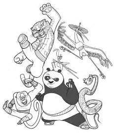 free printable kung fu panda coloring pages for