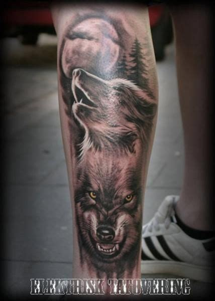 two wolves tattoo wolf pack tattoos wolf and wolf