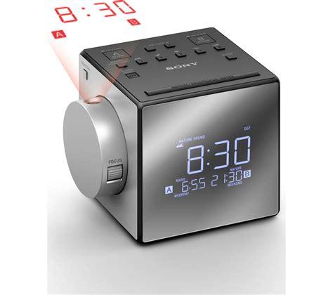 buy sony icf cpj portable fmam clock radio silver