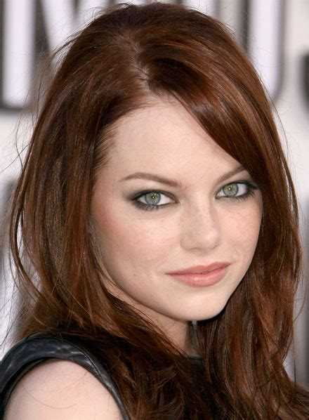 emma stone brown hair emma stone darkest brown hair color and laura geller