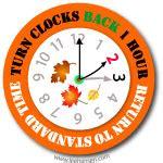 Daylight Savings Time Clip by Set Clocks Back Clipart