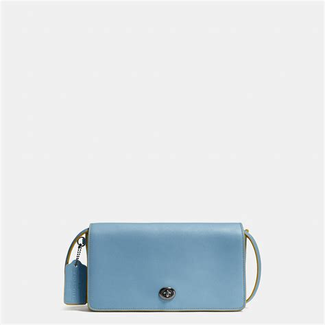 Coach Dinky Bag coach dinky crossbody in glovetanned leather in blue lyst