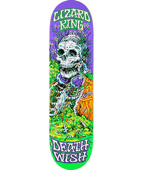 Deathwish Deck by Deathwish Lizard King Buried Alive 8 38 Quot Skateboard Deck