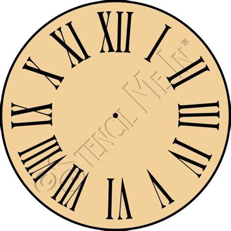 printable clock face roman numerals roman numeral clock face stencil stencil me in