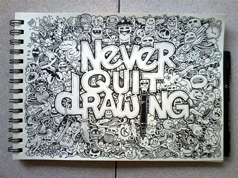 doodle and drawing doodle never quit drawing by kerbyrosanes on deviantart