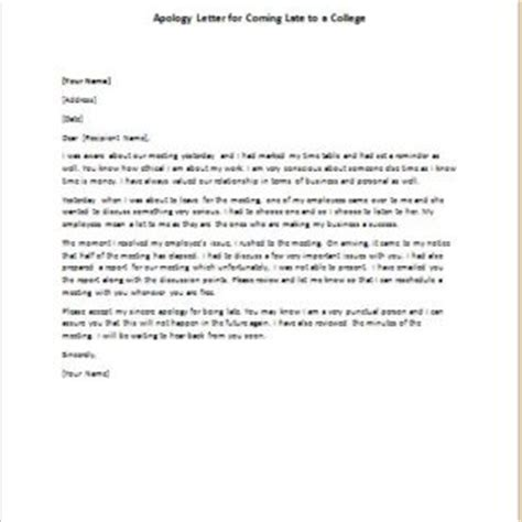 Apology Letter Missed Deadline Formal Official And Professional Letter Templates Part 5