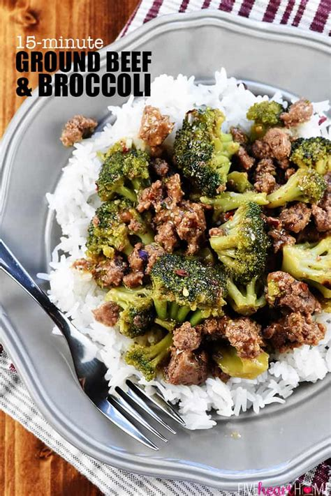 delicious ground beef broccoli fivehearthome