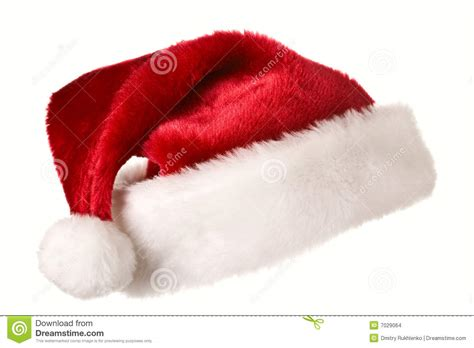 santa hat isolated on white stock images image 7029064