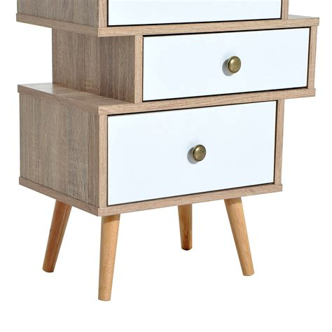 home goods accent tables furniture model homcom trendy accent chest with 4 offset storage drawers