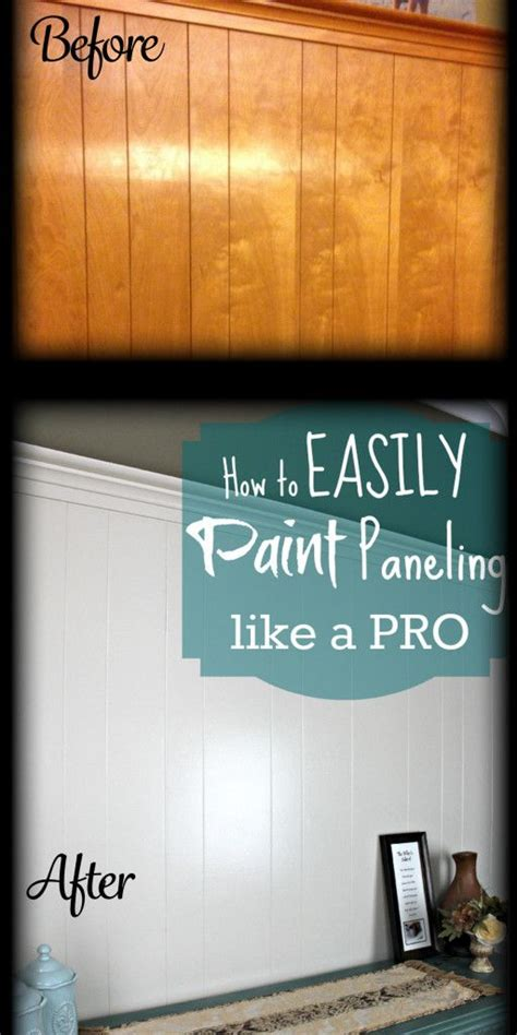 how to fix wood paneling diy home repair hack easily paint over wood paneling woods house and basements