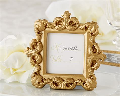 Wedding Favors Frames by Gold Baroque Wedding Place Card Holders Picture Frames