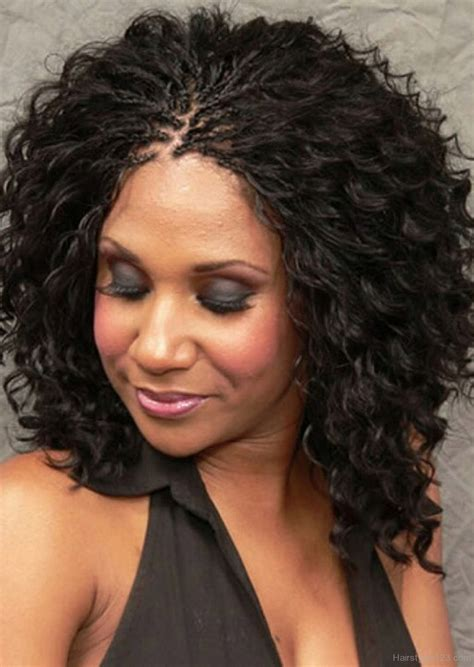 Curly Hairstyles For Black With Hair by Black Braided Hairstyle With Curly Hairs
