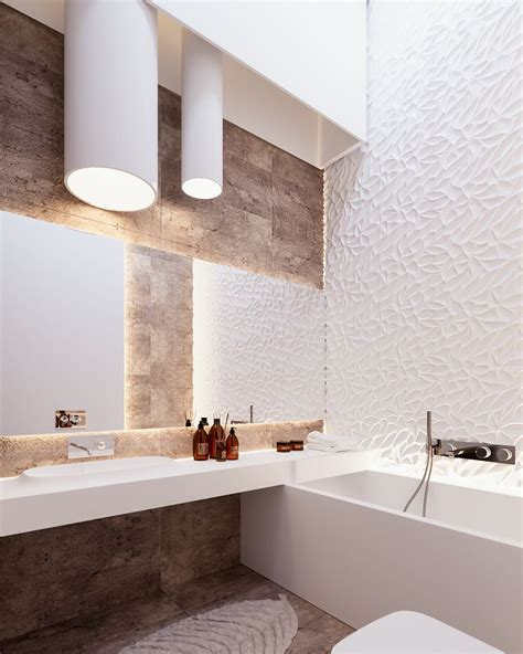 textured walls in bathroom a cleverly decorated family home in ukraine