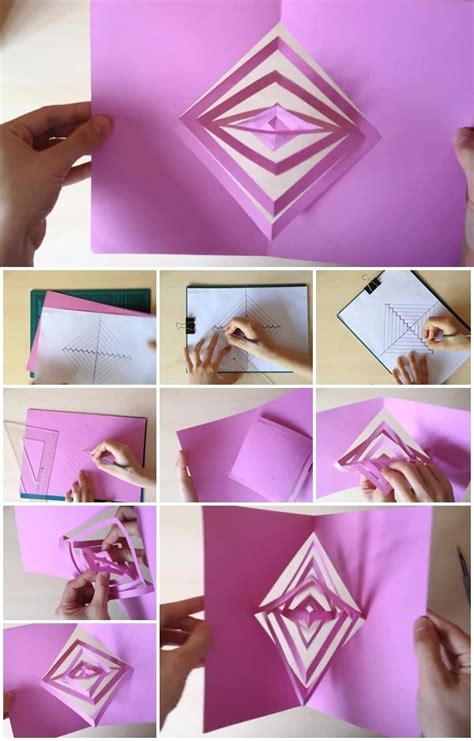 how to make a magic card how to make a magic spinning kirigami card usefuldiy