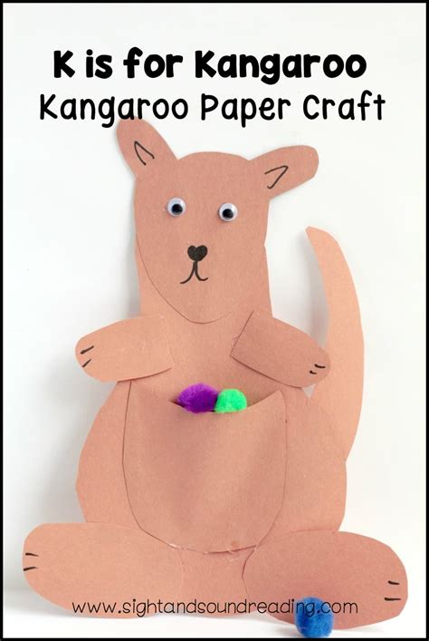 Kangaroo Paper Craft - vector letter k kangaroo children alphabet illustration