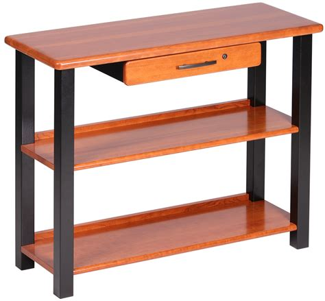 bookshelf table with drawer cherry caretta workspace