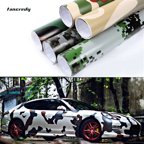 Stiker Camo Sticker Camouflage 80 tancredy car stling 30 152m camouflage pvc vinyl car sticker car wrap camo army green