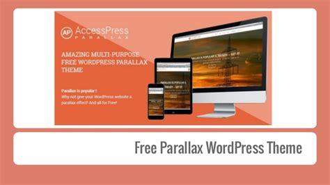theme wordpress free parallax access press parallax free parallax wordpress theme