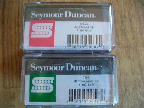 seymour duncan tb 4 jb trembucker and sh 2n jazz neck