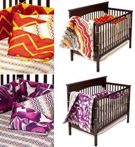 target baby comforters missoni for target baby bedding it s zig zag heaven